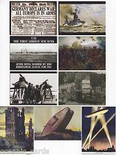 1914 WAR ILLUSTRADED TRADING CARDS CULT STUFF MINI MASTER SET & RARE 1915 PROMO
