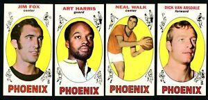 1969 Topps Basketball Phoenix Suns Lot - Van Arsdale, Walk, Harris, & Fox