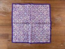 ERMENEGILDO ZEGNA purple silk pocket square authentic - NWOT
