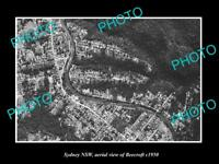 OLD LARGE HISTORIC PHOTO SYDNEY NEW SOUTH WALES AERIAL VIEW OF BEECROFT c1950