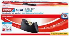 tesa® Tischabroller Curve + Klebefilm transparent 10m:19mm - 53917-00000