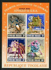 Togo Scott #C121a MNH S/S Joyeux Noel ON Apollo 11 SPACE CV$60+