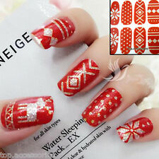 Christmas Snowflakes Sparkly Nail Art Wrap Full Cover Stickers #06072C Free P&P
