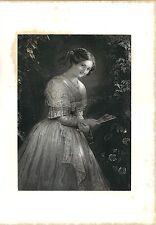 Stampa antica ALBANO LAZIALE Giovane ragazza campagna di ROMA 1859 Antique print