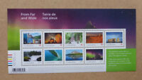 2018 CANADA FROM FAR AND WIDE STAMP SHEETLET 9 STAMPS MNH
