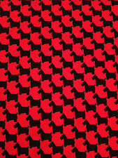 Michael Miller Scottie Houndstooth in Red. Dogs. By the Fat Quarter