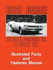 1969 Dodge Coronet Superbee RT Feature Manual