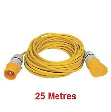 25m 110v 16amp Extension Lead 3x1.5qmm Hook Up Cable Plug Socket Caravan Camping