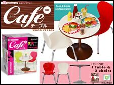 Re-ment Miniature Dollhouse Cafe Table Chairs set rement furniture Set