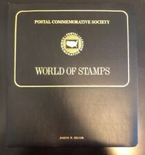 VTG Postal Commemorative Society World Of Stamps Book w/39 Panels of Stamps