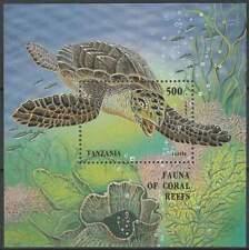 Tanzania postfris 1995 MNH block 280 - Schildpad / Turtle