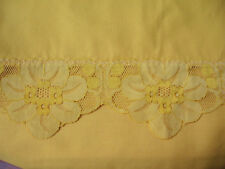 """Harvest Gold Tablecloth with 3"""" Lace Border, 88""""x64"""""""