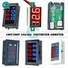 DC 100V/200V Voltmeter Ammeter 10A Dual LED Digital Volt Amp Meter Gauge 3/4 Bit