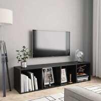 vidaXL Book Cabinet/TV Cabinet Black Bookshelves Stand Entertainment Center