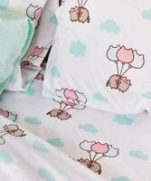 Pusheen Bedsheet & Pillow Case Set Full/Queen Size, cute, kawaii, balloons