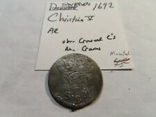 F100 Sweden 1692 AR 5 Ore Ex. Jewelry Mounted