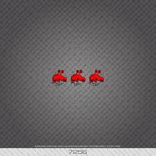 07256 Rock Lobster Bicicletta Adesivi-Decalcomanie-Transfers-Rosso