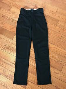 Rawlings Youth SoftBall / Baseball Pants Size Large Black GUC