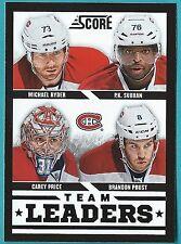 2013-14 Score Black card #565 of Montreal Canadiens Team Leaders
