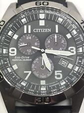 Mens Citizen Eco-drive Super Titanium Perpetual Calendar Alarm Chronograph