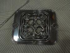 Lenox expandable trivet new silver fleur de lis Butlers Pantry 13''