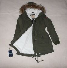 Womens Hollister by Abercrombie&Fitch Faux Fur Water Resistant Hoodie Jacket S