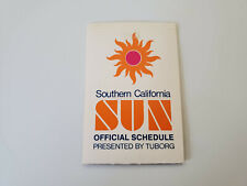 RS20 Southern California Sun 1975 WFL Football Pocket Schedule - Tuborg