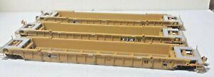 3 Metal Double Stack Railroad Cars DTTX 620646 w/ metal wheels Kadee Couplers
