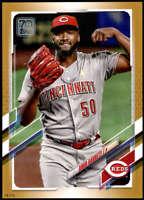 Amir Garrett 2021 Topps 5x7 Gold #124 /10 Reds