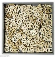 BOX OF WOODEN SHAPES ALPHABET LETTERS Random Fill - Craft Emotions #0299