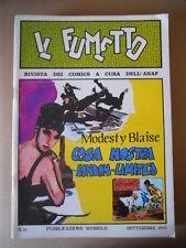 IL FUMETTO Rivista fumetti ANAF n°11 1973 Modesty Blaise  [G757] BUONO