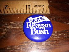 Vintage VOTE REAGAN BUSH Pin back Button President Political election Campaign