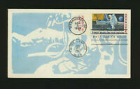 C76 Moon Landing Cachet 1969 Dual Cancel UA Moon Landing FDC with Mail Early TAB