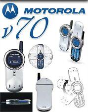 ⭐Unlocked Motorola V series V70 Silver Cellular Original Phone 2G GSM 900 1800