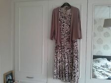Ladies Two Piece Suit by EASTEX - Size UK 10 - Floral Dress, Jacket & Necklace