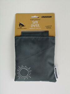 Sonnensegel graphite für Croozer Kid for 1 Kid Vaaya 1 Kinderanhänger grau NEU