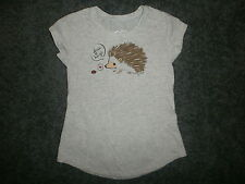 HEDGEHOG LADYBUG FREE HUGS JUSTICE BRAND T SHIRT Love Tee Porcupine Girls Size 5