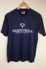 Men's SMALL Under Armour Running Shirt Dark Blue Georgetown SHIPS TODAY OH278