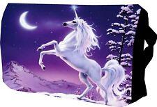 Cavallo bianco unicorno/Scuola/College/Messenger/Borsa per portatile/IMBOTTITA