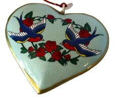 Robins Love Letter Heart-Art Ed Hardy Style Art! Ornament Valentine's Day
