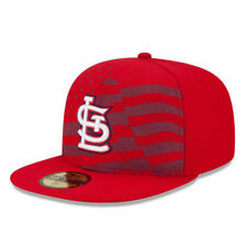 NEW ERA 59FIFTY MLB ST LOUIS CARDINALS JULY 4TH RED WHITE BLUE 7 1/8 DIAMOND