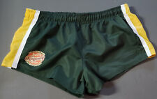 likeNEW! Aussiebum RUGBY PRO Rower Footy Shorts M 31-33 Mens Athletic Green Surf