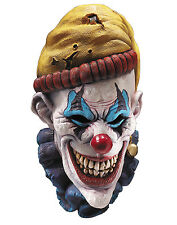 Scary Killer Clown Insano Latex Over Head Horror Halloween Mask Adult