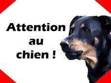 plaque Attention au chien Beauceron Aluminium 15x20