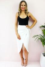 Gonne e minigonne da donna vita alta bianco taglia 40