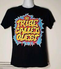 A Tribe Called Quest Graffiti Logo Black T-Shirt Hip Hop Gildan 100% Cotton Sz S