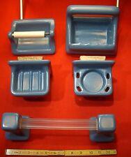 Vintage…Blue…NOS…Complete Ceramic Bathroom Set... Made by Mosaic Tile Co.