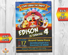Angry Birds Invitation / Angry Birds Birthday Party Invitation