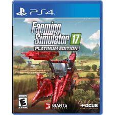 PS4 Farming Simulator 17 Platinum Edition NEW Sealed REGION FREE USA