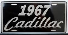 1967 67 CADILLAC METAL LICENSE PLATE ELDORADO COUPE DE VILLE SEDAN FLEETWOOD